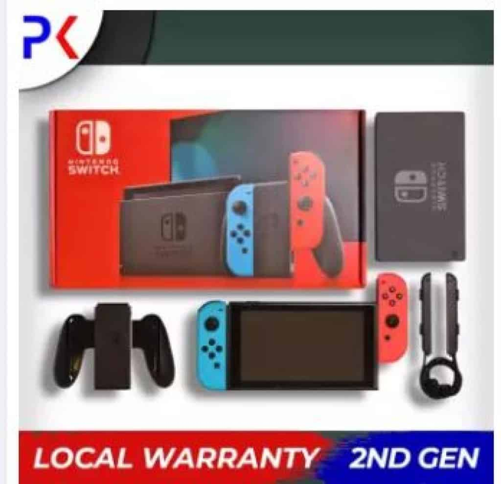 2nd Generation Nintendo Switch with a 1-year warranty