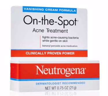 Neutrogena Benzoyl Peroxide On-the-Spot Acne Treatment Vanishing Cream