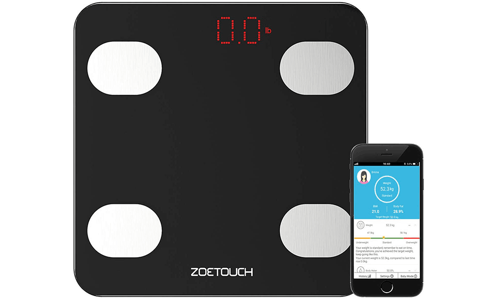 ZOETOUCH Digital Smart Weighing Scale
