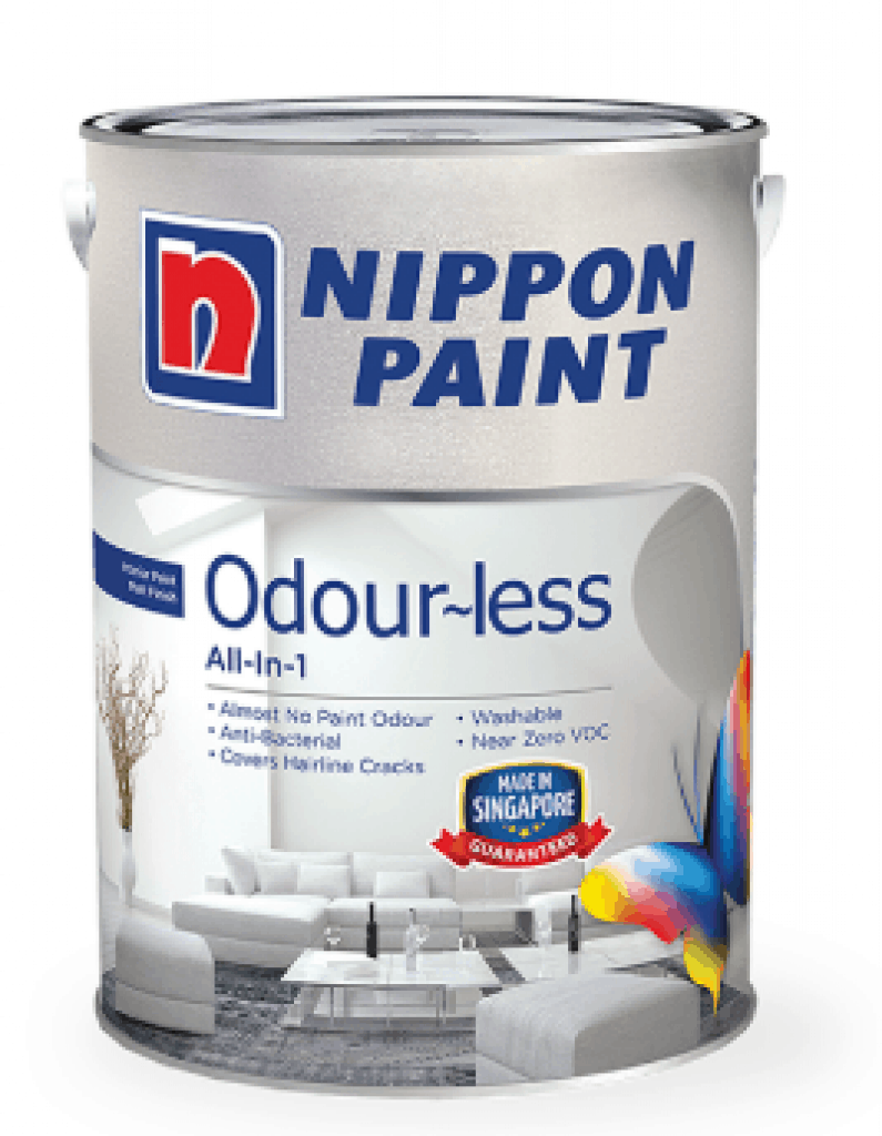 Nippon Paint All-in-1 Odour-less white paint