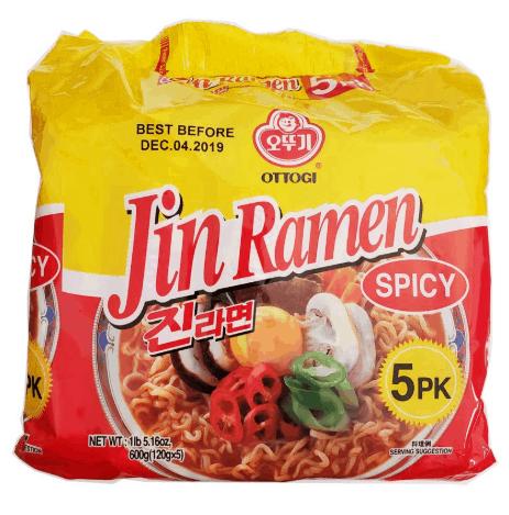 Ottogi Jin Ramen Hot 5's