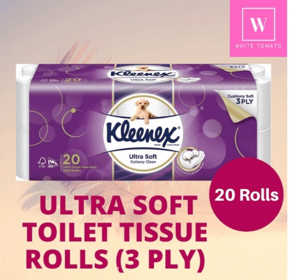 Kleenex Ultra Soft Cottony Clean Toilet Paper is the best toilet paper consumer reports, where to buy Bathroom Tissues in Singapore, What was the old toilet paper called?, What is a good substitute for toilet paper?, What is toilet paper called in America?