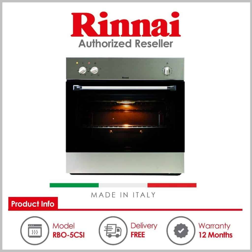 Rinnai (RBO-5CSI) 61L Built in Oven is best built-in oven singapore, Home Appliances, Kitchenware, Why are built-in ovens so expensive?