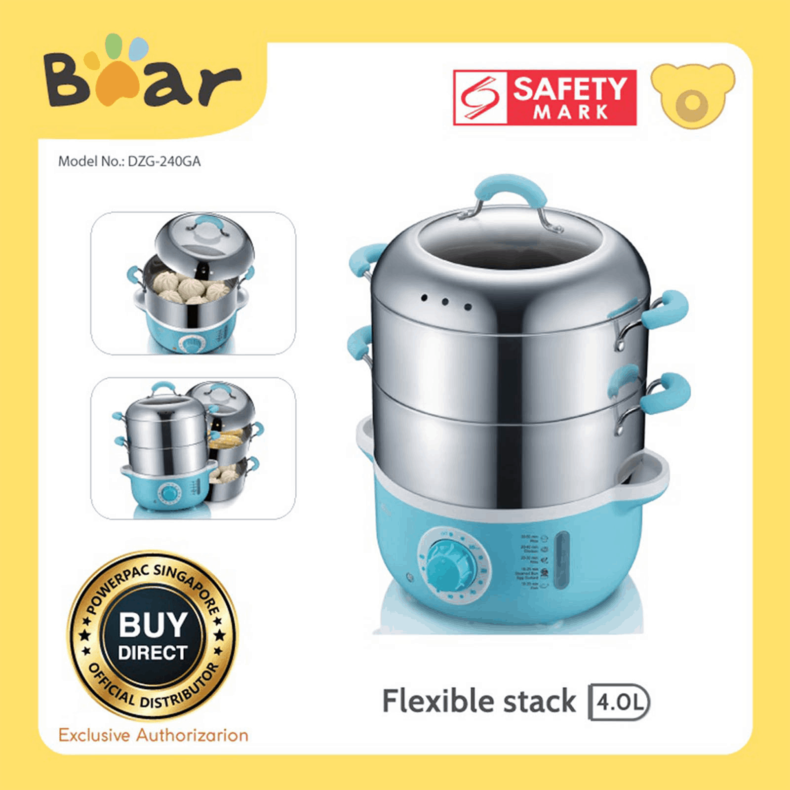 Authorised Stainless Steel Food Steamer Singapore, fun, safe and easy to use