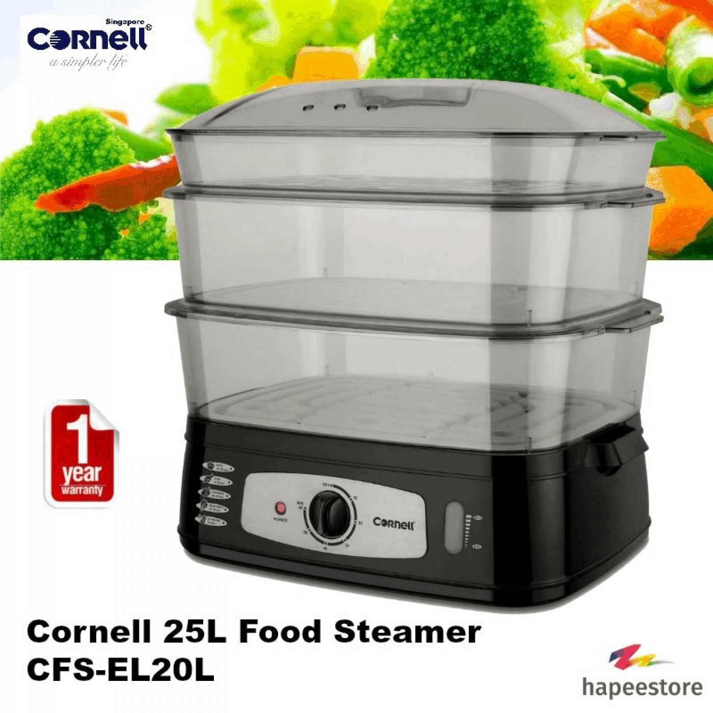 Easy to use and clean Food Steamer in Singapore cheap prices