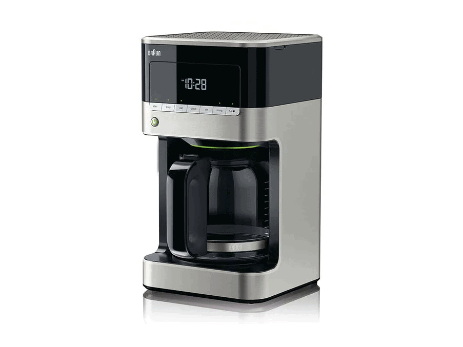 The Braun KF7120 Drip Filter Coffee Maker (Black) is the coffee maker that you should be looking for. Its sleek and temperature control is awesome