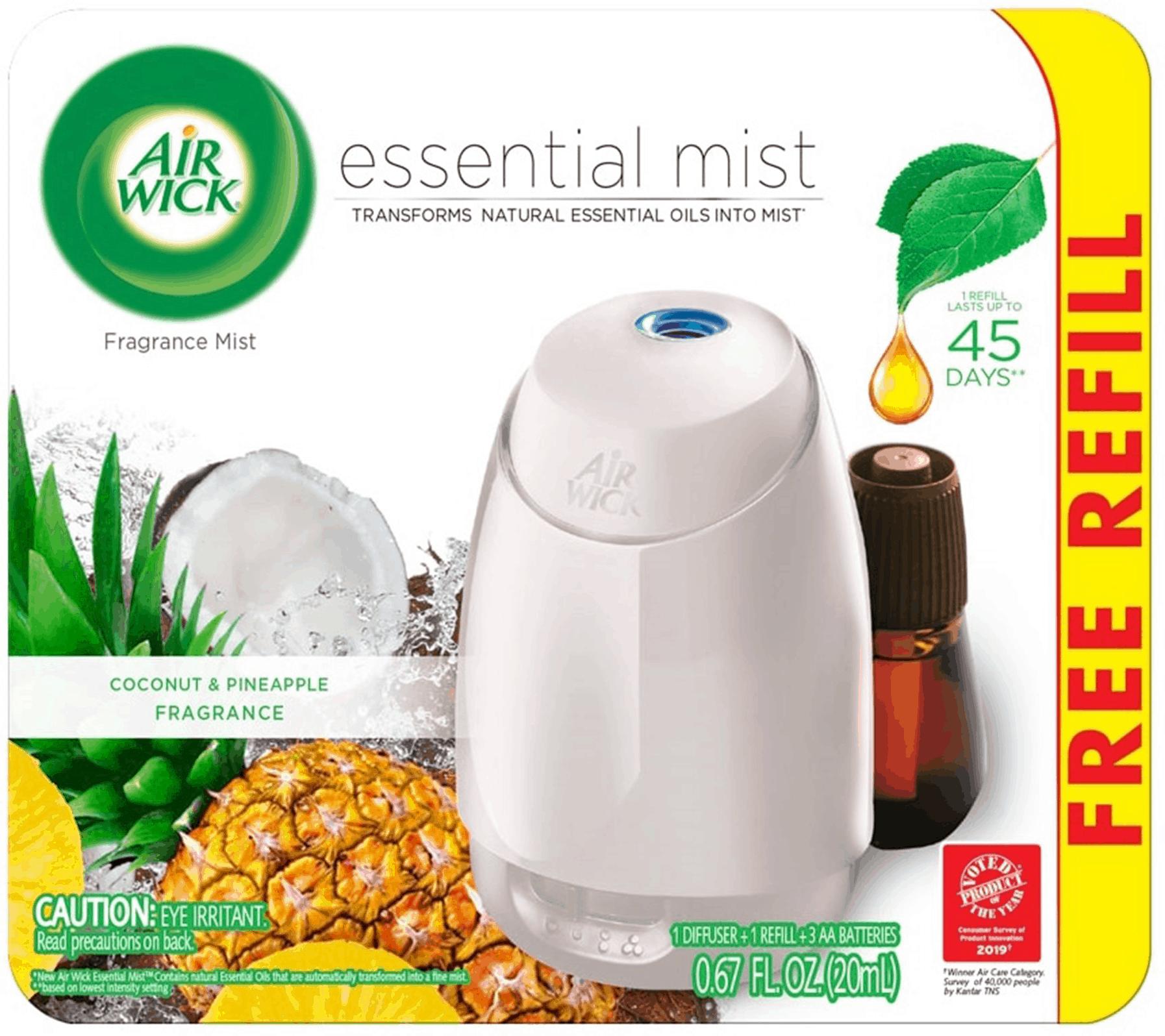 1+1 Air Wick Essential Mist Diffuser Starter Kit is best buy of Air Fresheners Online favorite of Housekeeping