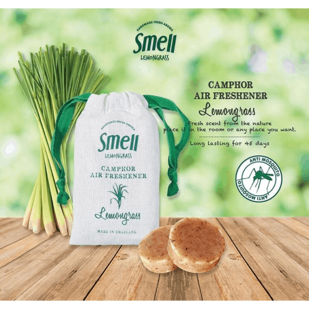 Camphor Air Freshener - Smell Lemongrass is Best Air Refreshener To Put In Your bedroom. as its natural and is a good insect repellent.