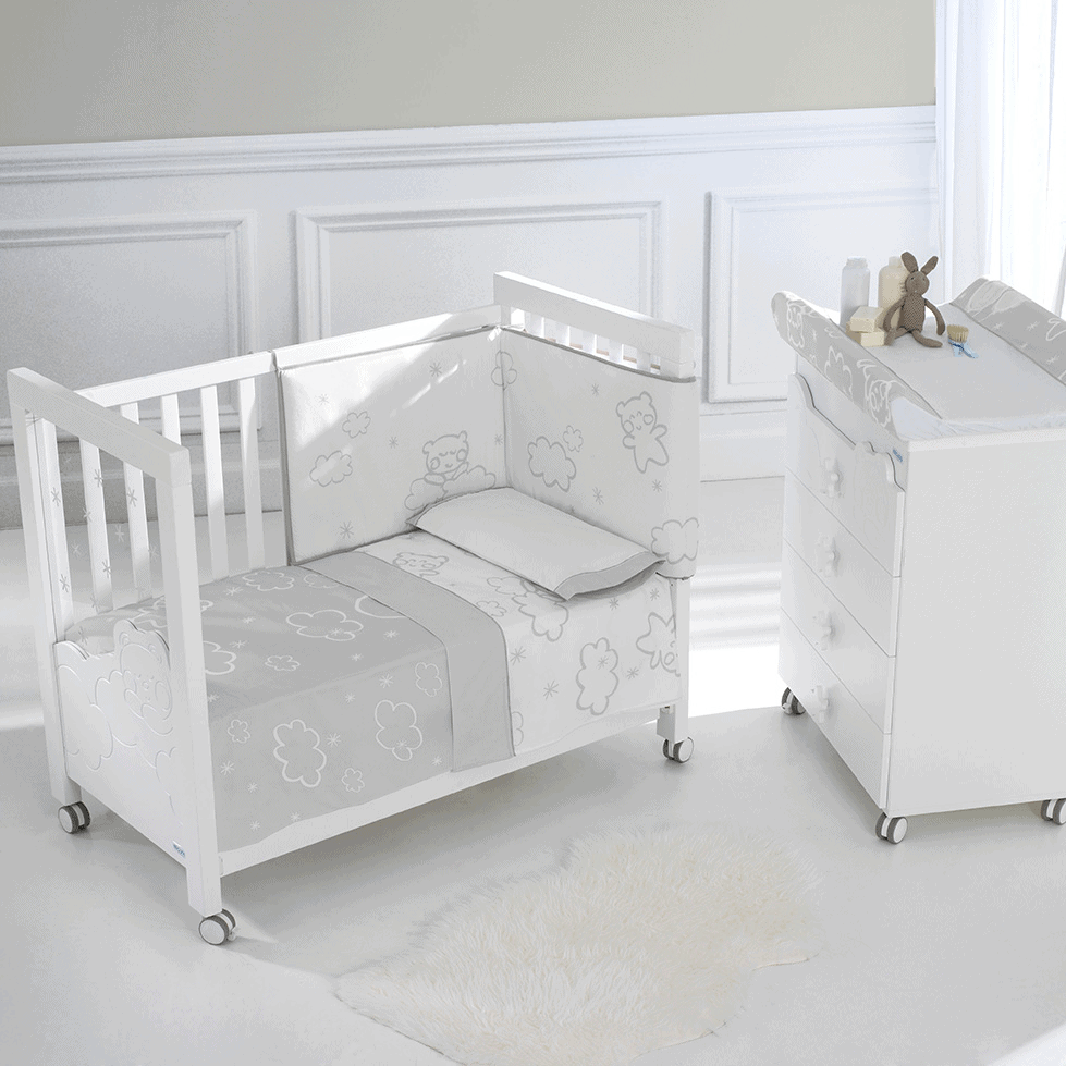 "[Jarrons & Co] Micuna Dolce Luce Baby Cot w/ Relax System (Free 4"" Anti Dust Mite Foam Mattress) is best adjustable wooden baby cot in singapore"