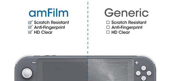 amFilm Tempered Glass For Nintendo Switch Lite