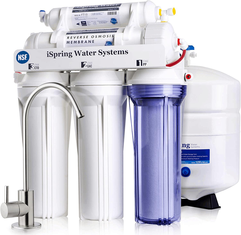 Best Under-Sink Water Filter is iSpring RCC7 5-Stage Under-Sink Water Filter