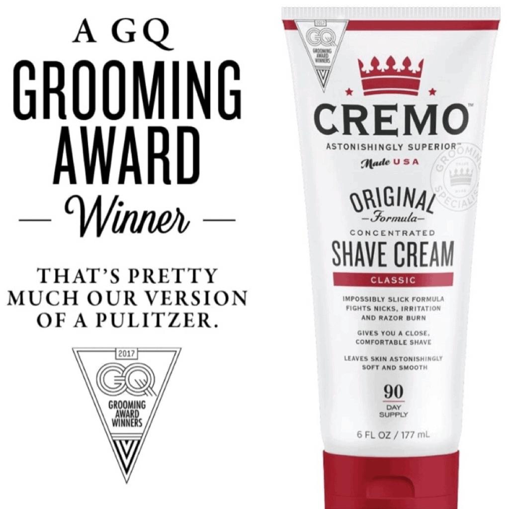 Cremo Original Shaving Cream is The Best Shaving Creams That is award winning