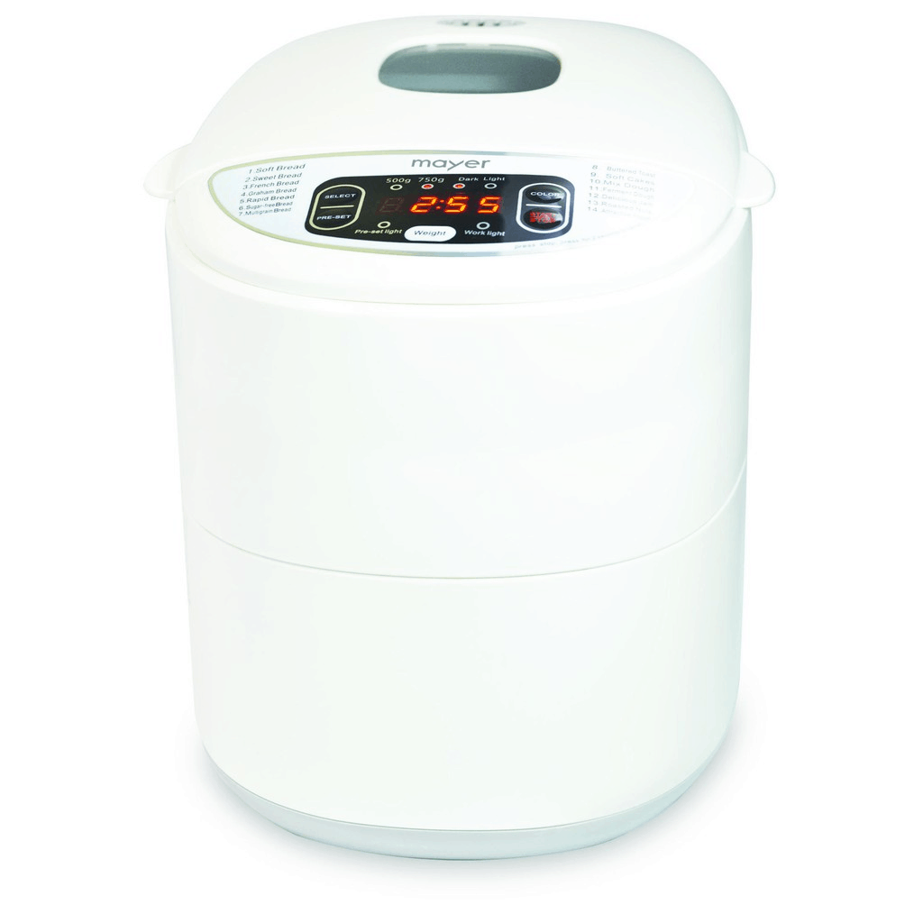Mayer 750g Bread Maker MMBM12 is cheaper to make your own bread with a bread maker in Singapore.