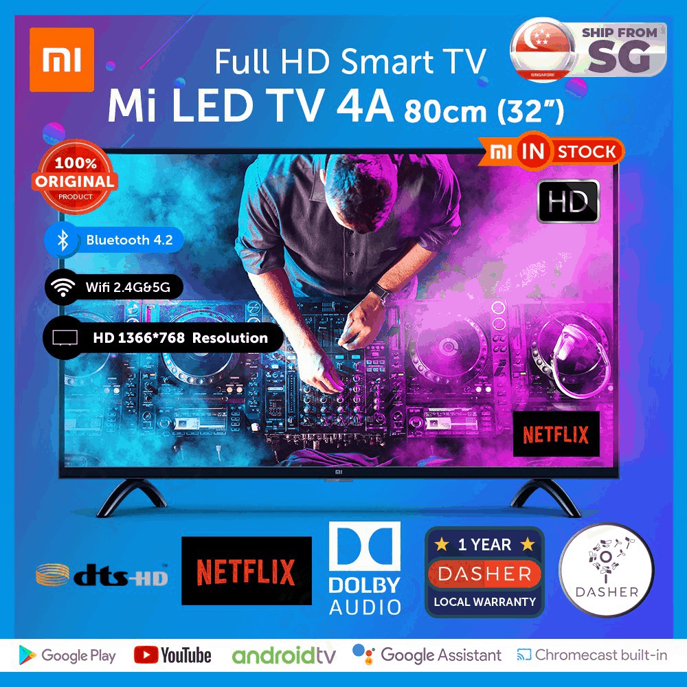 "Xiaomi Smart TV 32"" 4A Model Full HD Display"