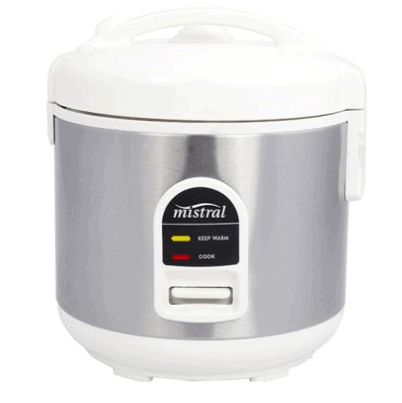 Mistral 1.0L Rice Cooker can cook rice healthily by steaming the rice, locking the flavors for a delightful asian meal.