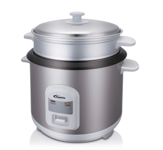 PowerPac 1L Rice Cooker with Steamer is Best Rice Cookers in Singapore for Perfectly Cooked Rice