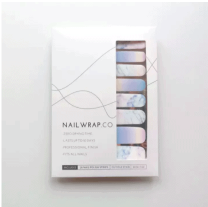 Marble Nail Art Sticker is 100% Nail Polish Wraps. Fuss-Free and easy to put on