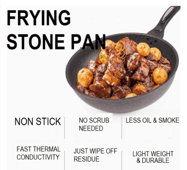 best non stick frying pan without teflon in Singapore Medical Stone Non Stick Frying Pan