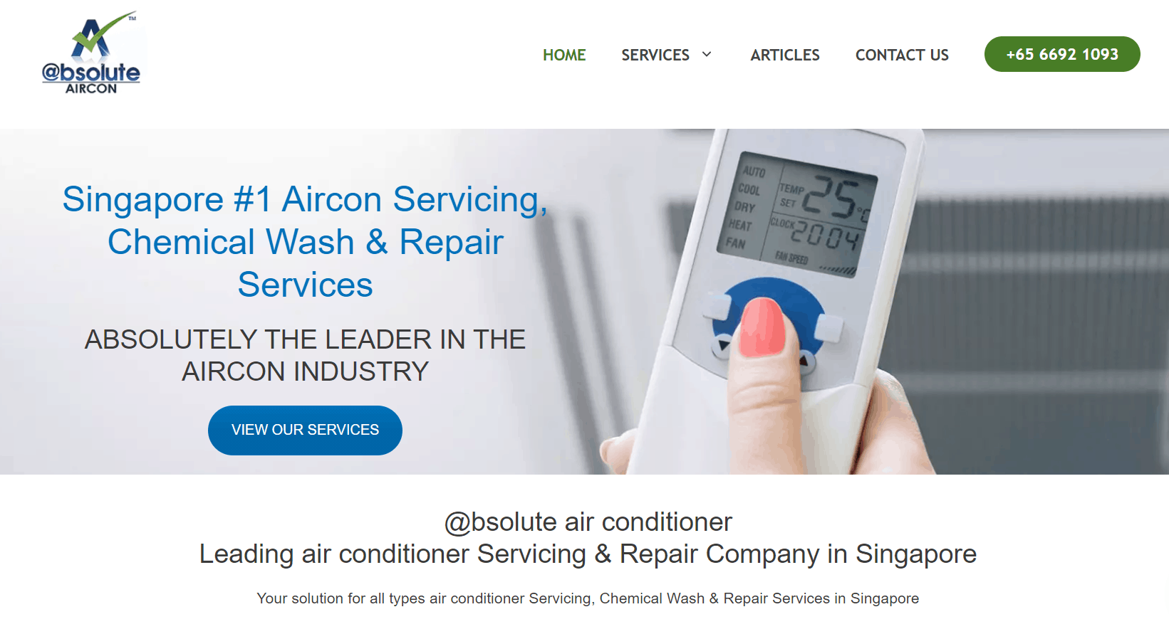 Absolute Aircon is Top 10 Companies In SG With Best Aircon Servicing Package