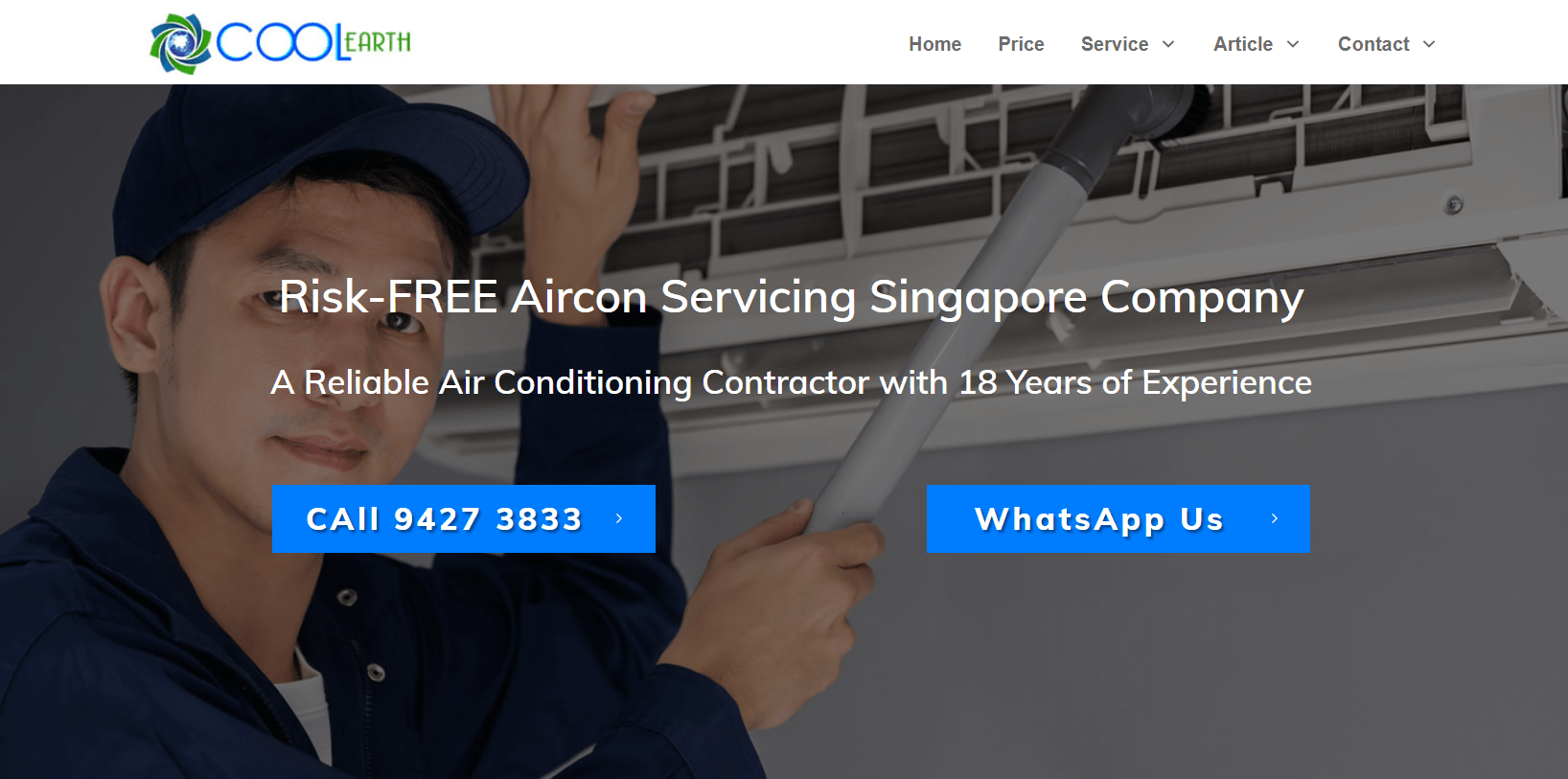 Cool Earth Aircon Services is The 10 Best Air-con Services in Singapore this year