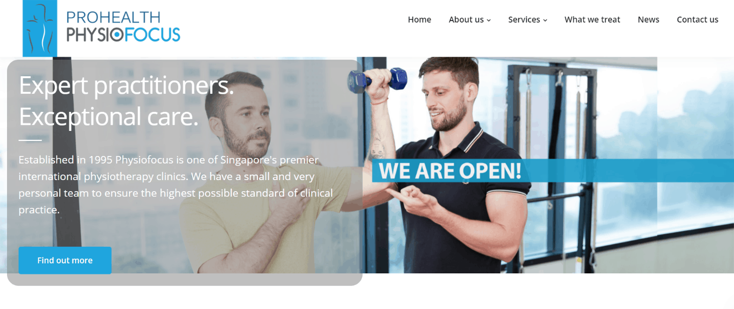 Physiofocus – Physiotherapy Clinic & Rehab is Top Physiotherapy Clinics in Singapore