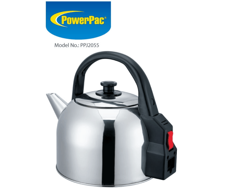 PowerPac PPJ2055 Electric Kettle Stainless Steel 5L is The 6 Best Electric Kettles in Singapore for brewing Coffee and Tea