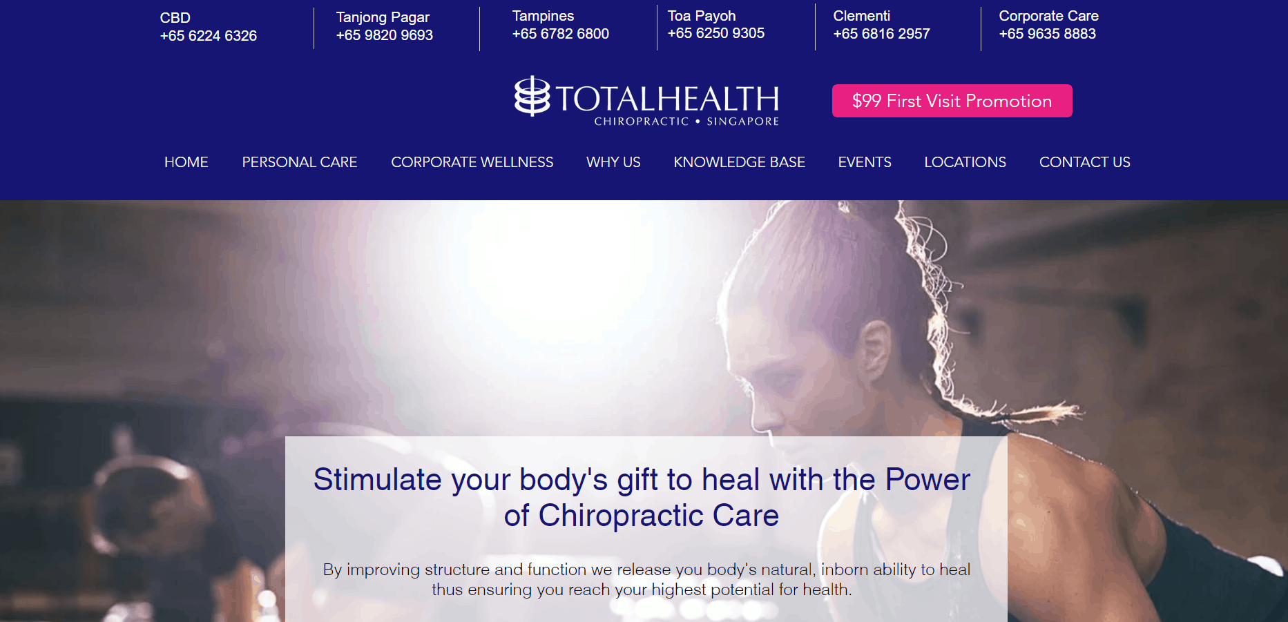 Total Health Chiropractic The 10 Best Chiropractors in Singapore for Chronic Pain neck pain back pain muscle pain