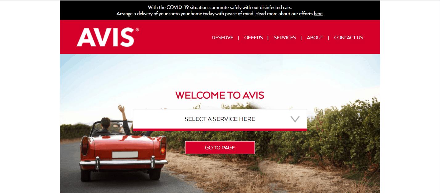 Avis Car Rental Cheap car rental Singapore no deposit