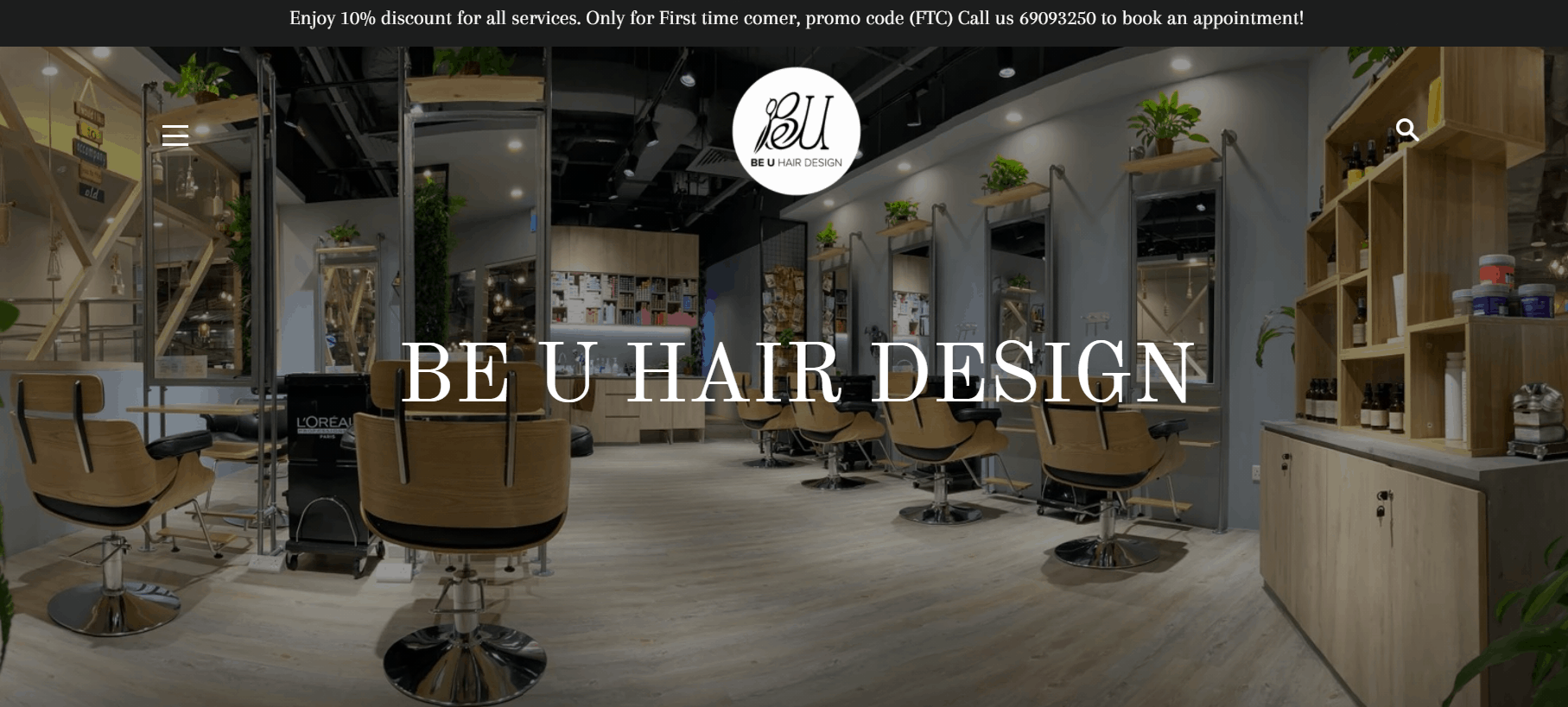 BE U Hair Design is the Top 10 Hair Salon to get Haircut for $50 and below