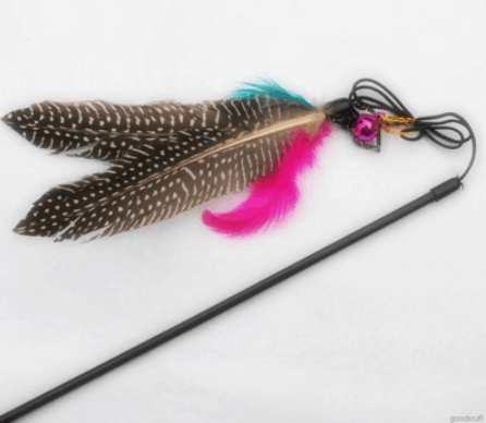 Cat Toy: Bird Feather Teaser Wand is The 10 Best Gifts for Cat Lovers in Singapore
