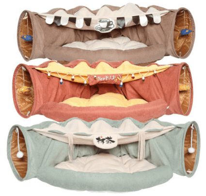 Cat Tunnel with Bed Cushion is the 10 Best Pet Gifts for this year Unique Gifts for Dogs & Cats