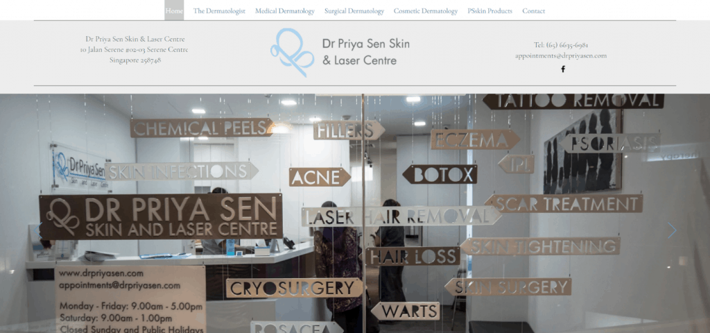 Dr Priya Sen Skin & Laser Centre is The Complete Guide To Seeing A Dermatologist In Singapore