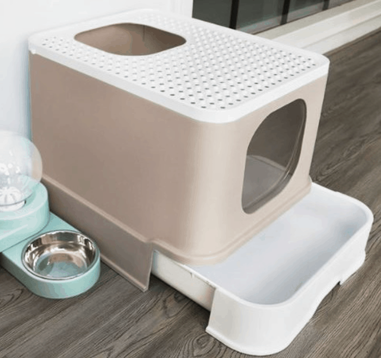 Enclosed Cat Litter Box Flip Entrance with Top Access is the Best Pet Products to buy for Your Cat in Singapore