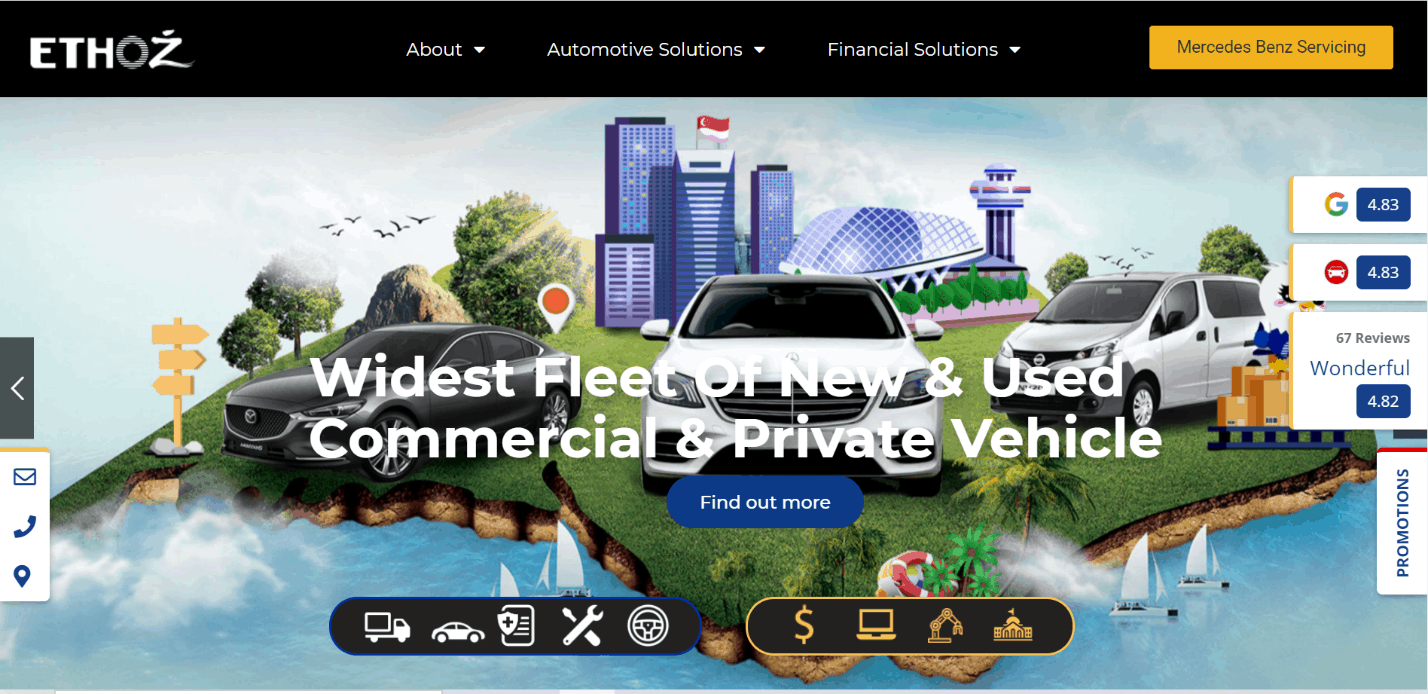 ETHOZ Group is Top 10 Car Leasing Companies Island wide