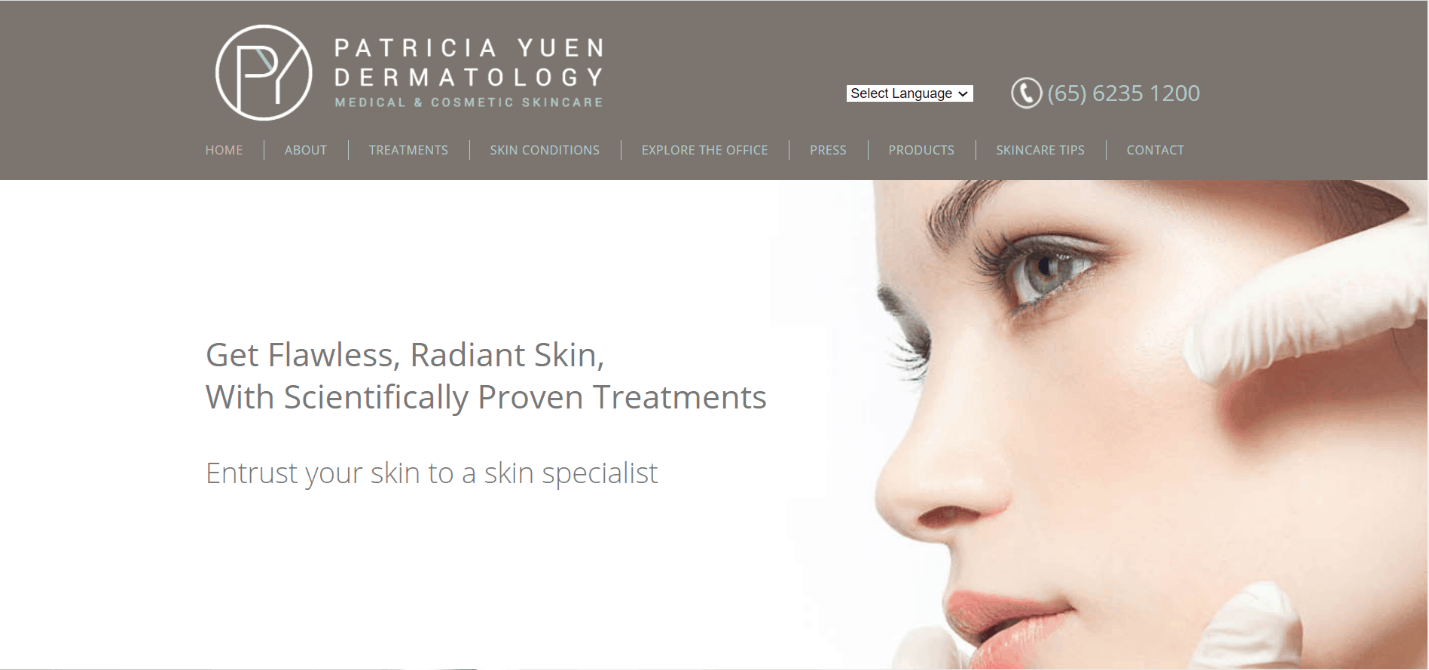 Patricia Yuen Dermatology Medical & Cosmetic Skincare is 10 Best Dermatologist, Skin and Specialist Clinics in Singapore
