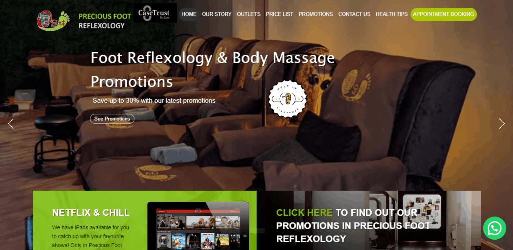 Precious Foot Reflexology is 10 Popular Massage Spas in Singapore