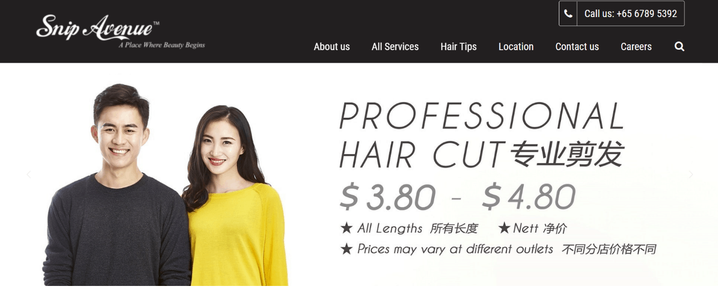 Snip Avenue 10 Affordable Hair Salons In Singapore For Quality Female male Haircut