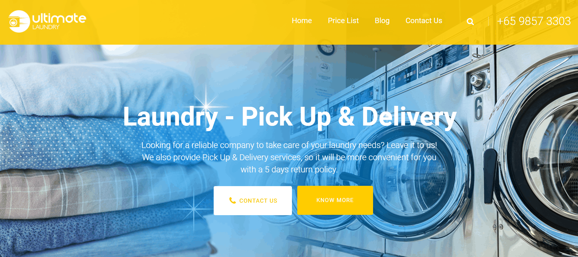 Ultimate Laundry is the 10 Best Laundry & Dry Cleaning Services in Singapore