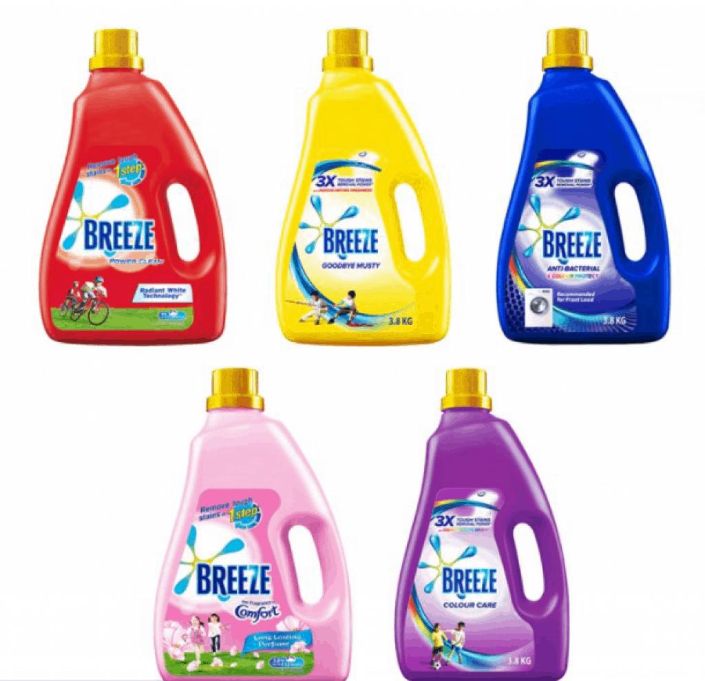 Best Laundry Detergent for sensitive skin in Singapore Breeze Liquid Detergent 3.6kg/3.8kg