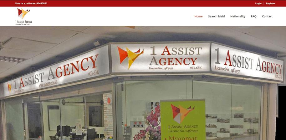 1 Assist Agency is top 10 Best domestic helper Agencies in Singapore