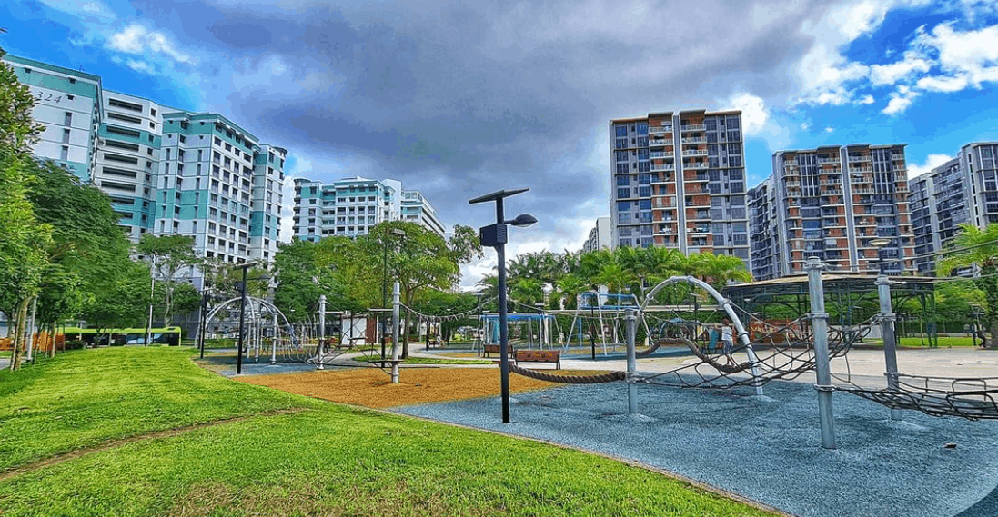Canberra Park is Top Outdoor Playgrounds in Singapore for Kids