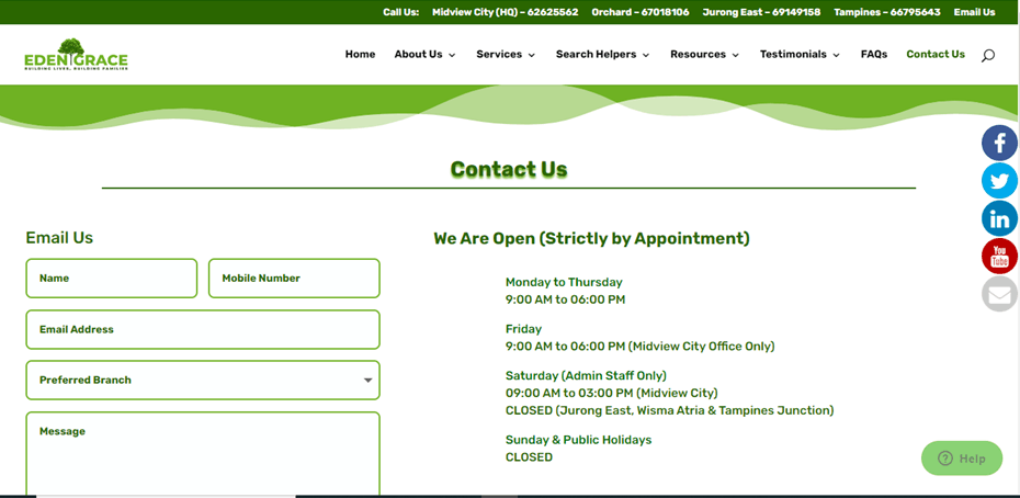 Eden Grace Human Resources is the 10 Top Maid Agencies in Singapore to Hire a Helper this year