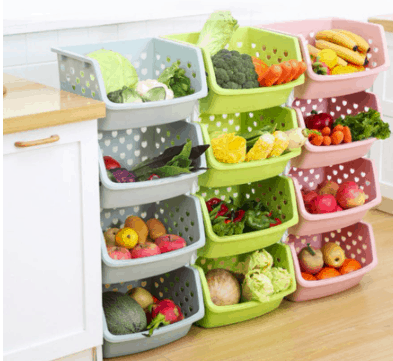 Fruit and Vegetable Storage Basket is top 10 Essential household items needed for new move in Singapore, store fruits and veg tidily
