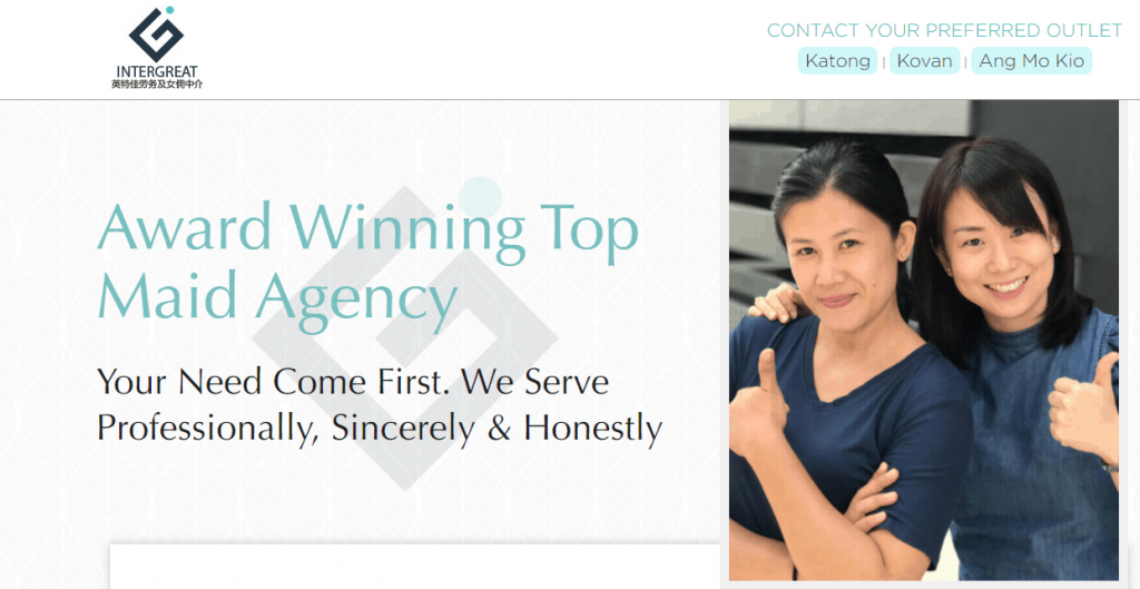 Inter Great Employment Pte Ltd. Review of The 10 Best Maid Agencies in Singapore this year