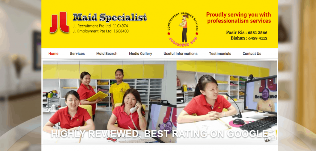 JL Recruitment Pte Ltd is the Best Reviewed Maid Agency - Top Maid Agency In Singapore