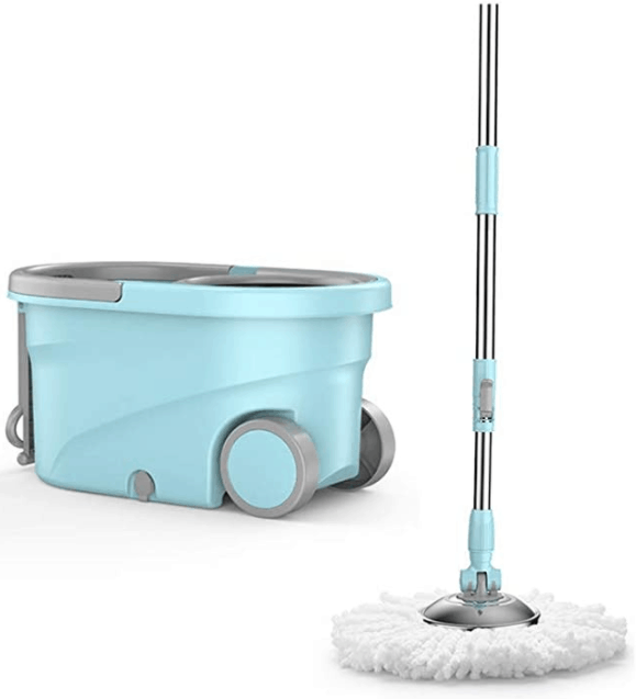 Moving-In Checklist: 32 Home Essentials Every House Needs is the Spin Mop and Bucket Set