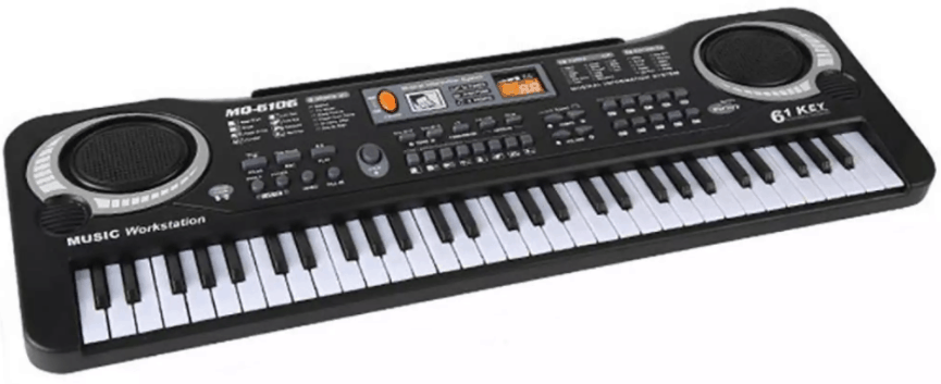 Musical Mic 61Key Piano Electronic Portable Instrument Kid Keyboard Toy is best for beginners. young children small kids Best Piano for Kids