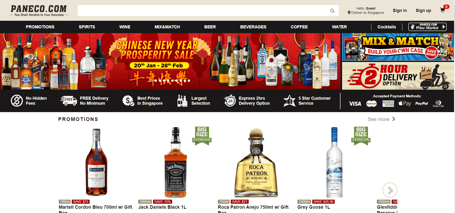 Paneco Singapore is 24hr alcohol delivery in Singapore