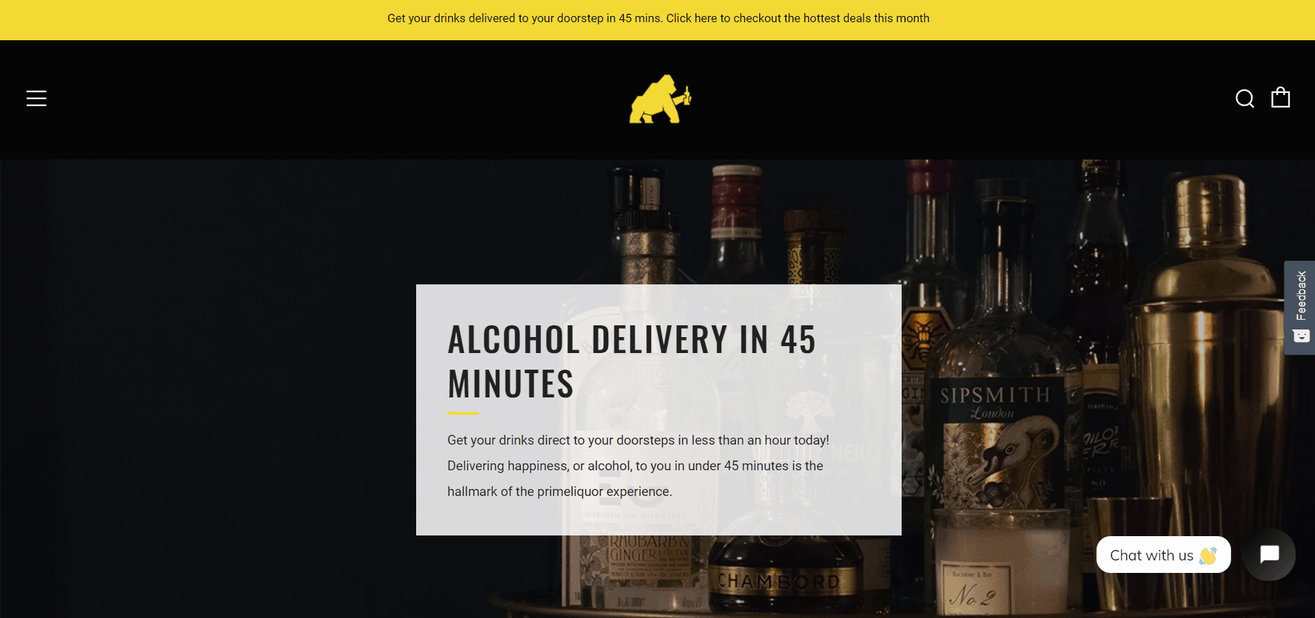 Prime Liquor is a place in Singapore to get Alcohol Delivery fast within 45minutes