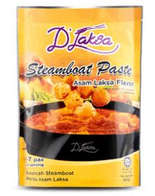 Top 6 Best Laksa paste in Singapore is D'Laksa Steamboat Paste - Assam Laksa Flavor